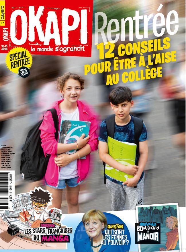 Couverture du magazine Okapi, n°1139, 1er septembre 2021