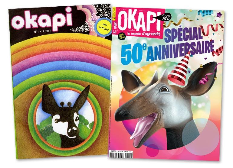 Okapi, le magazine des 10/15 ans fête ses 50 ans !