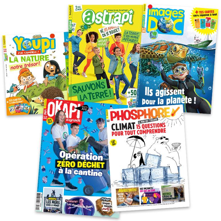 L'écologie n'est pas traitée comme un sujet isolé, mais traverse les magazines Bayard Jeunesse sous des formes très variées !