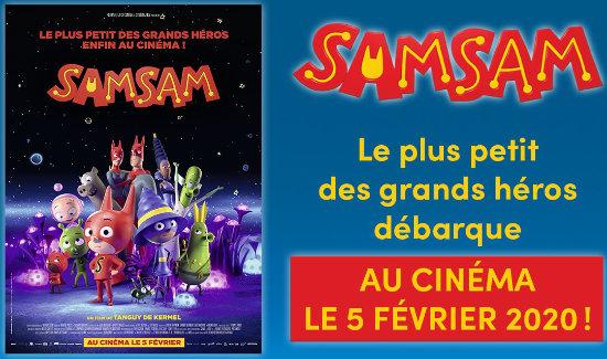 En février, SamSam débarque au cinéma !