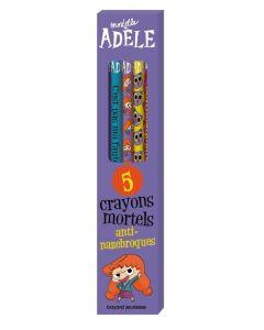 Papeterie - Mortelle Adèle - Boîte de 5 crayons
