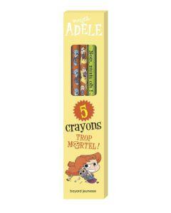 Papeterie - Mortelle Adèle - Boîte de 5 crayons pour la rentrée