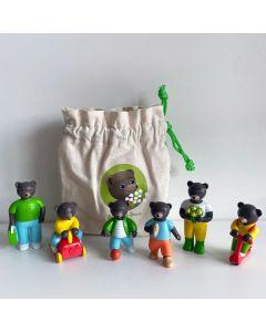 Sachet de 6 figurines Petit Ours Brun - Promenade