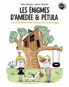 Livre - Les énigmes d'Amédée et Pétula - Tome 1 - Le mystère des chips au fromage - C. Clément