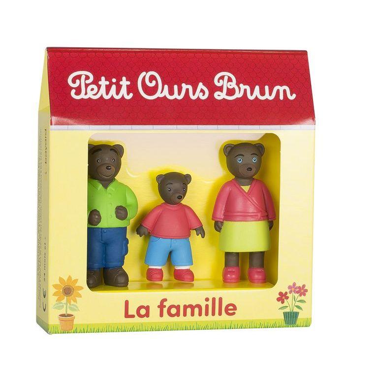 PetitOursBrun, setde 3figurines, la famille
